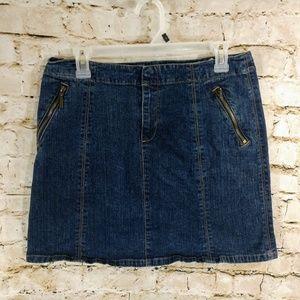 DKNY Denim Mini Skirt size 8